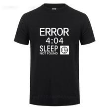 Camiseta con estampado de ordenador para hombre, camiseta con diseño de Error 404, regalos de cumpleaños divertidos para hombre, camiseta informal de gran tamaño con programador Coder friki