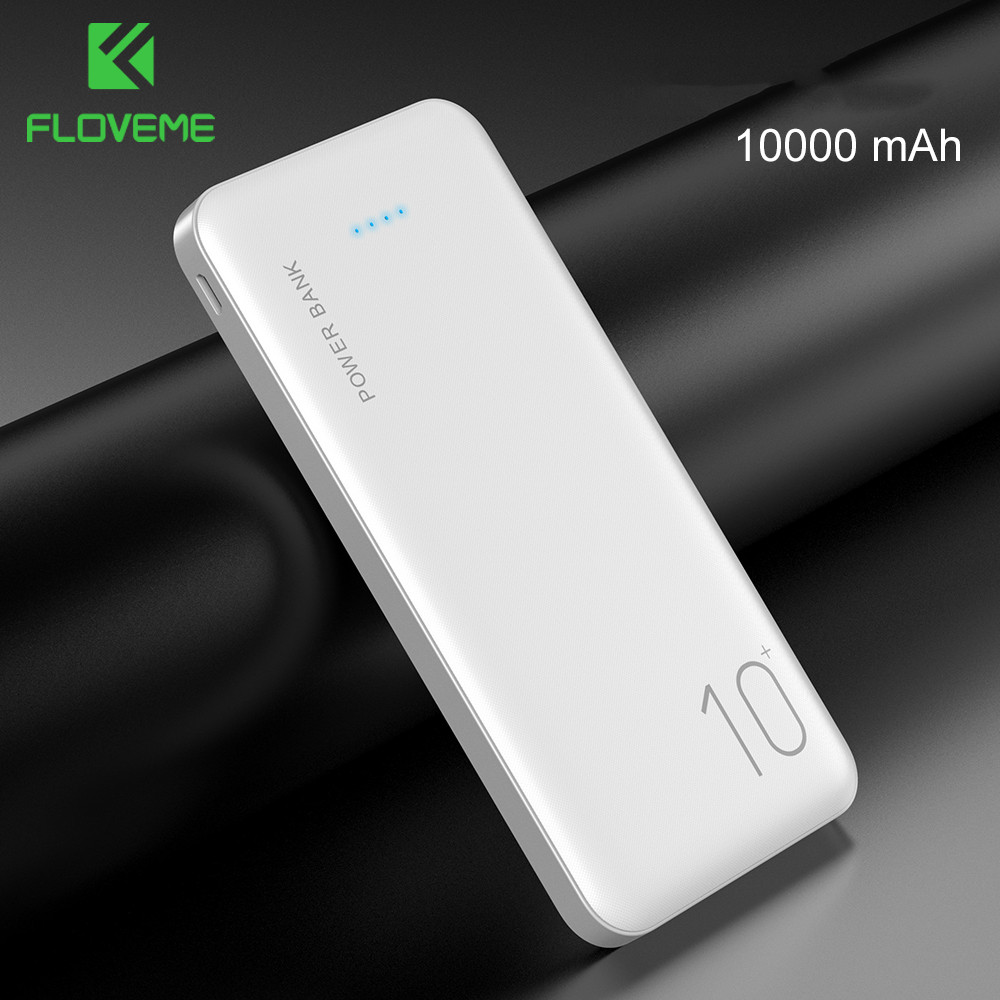 FLOVEME 10000mAh Power Bank Portable Charger For Xiaomi Powerbank Mobile Thin External Battery Pack 10000 mAh Poverbank Dual USB