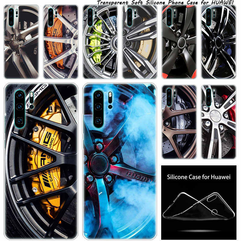 Soft Silicone Case Sports car Wheels rims vehicles for Huawei NOVA 3 3i 5 5i P20 P30 Pro P9 P10 P8 Lite 2017 P Smart Z Plus 2019