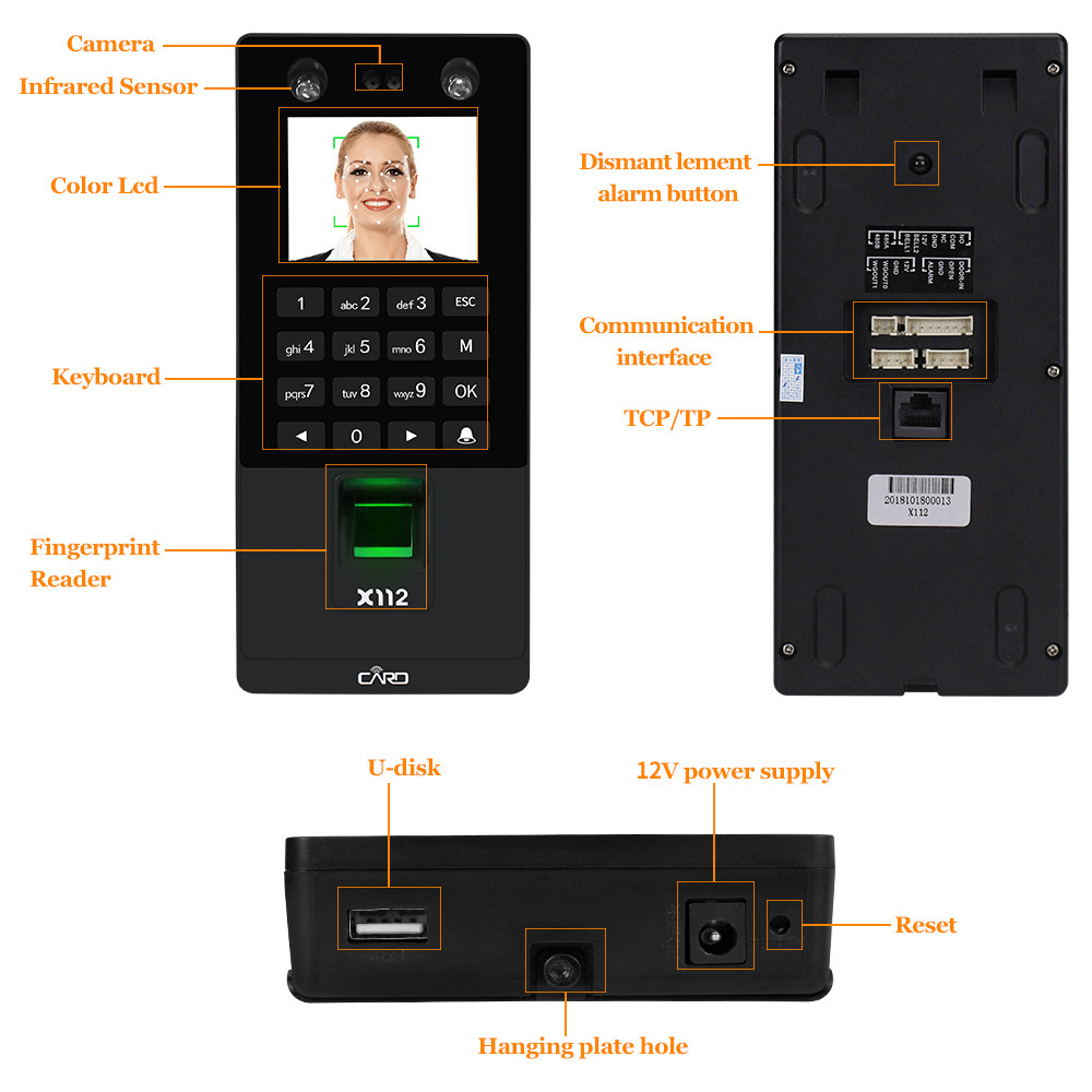 Image 5 - TCP/IP/USB Biometric Facial Door Access Control System Software RFID Keypad Reader Fingerprint Face Time Attendance Machine-in Fingerprint Recognition Device from Security & Protection