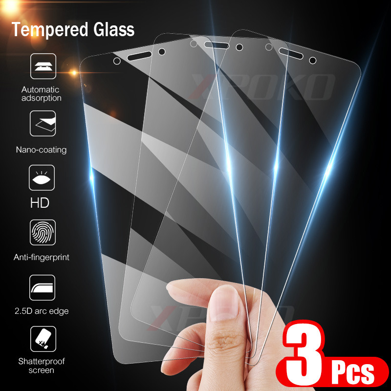 XPOKO 3Pcs Full Cover Tempered Glass For Xiaomi Redmi Note 4 4X Global Version Screen Protector For Redmi 4X Note 4 Glass Film