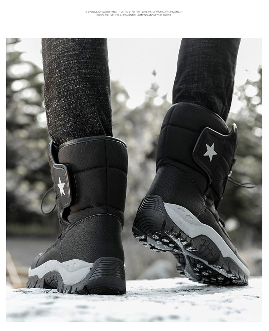 água botas de inverno com pele sapatos