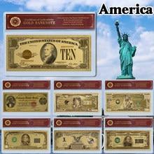 Billetes de papel de aluminio de 24k, mil millones de dólares, papel mundial, regalo