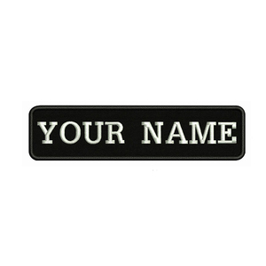 Embroidery Custom Name Text Patch Stripes badge Iron On Or Sew On Or Velcro Backing Patches For Clothes Backpack Hat BR-02A(China)