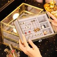 Makeup Organizer Storage Boxes Acrylic transparent Table Jewelry storage drawer organizer Sundries Storage Box Storage Holders