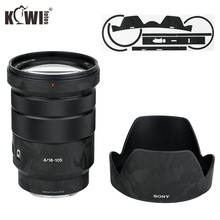 Shadow Black Anti Scratch Lens and Lens Hood Cover Sticker SkinFilm For Sony E PZ 18 105mm F4 G OSS SELP18105G Lens & ALC SH128