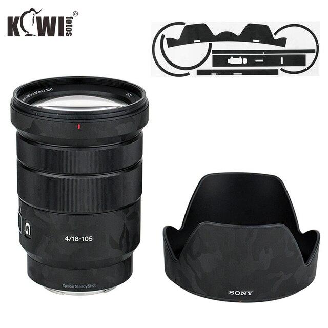 Shadow cubierta de lente y parasol antiarañazos, película de piel adhesiva para Sony E PZ 18 105mm F4 G OSS SELP18105G Lens & ALC SH128