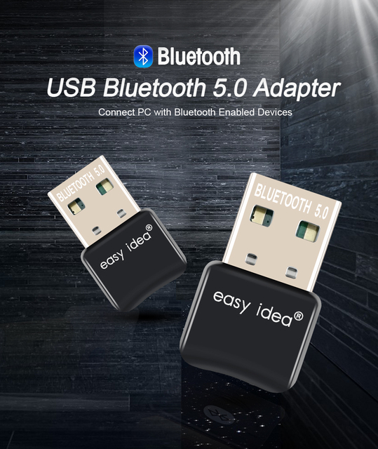 USB Bluetooth 5.0 Adapter Bluetooth Dongle 5.0 Transmitter Bluetooth Receiver Mini Audio Adapter For Computer PC Laptop Music 2
