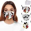 Disney Микки и Минни Маус маска для лица с фильтры для взрослых для активного отдыха на открытом воздухе Анти-пыль PM2.5 ветрозащитный мультфильм...