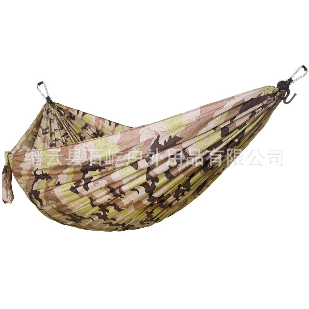 Lengthened Widened 3 People 300 * 200nylon Lightweight Parachute Cloth Hammock Camouflage Nylon Camping Hammock