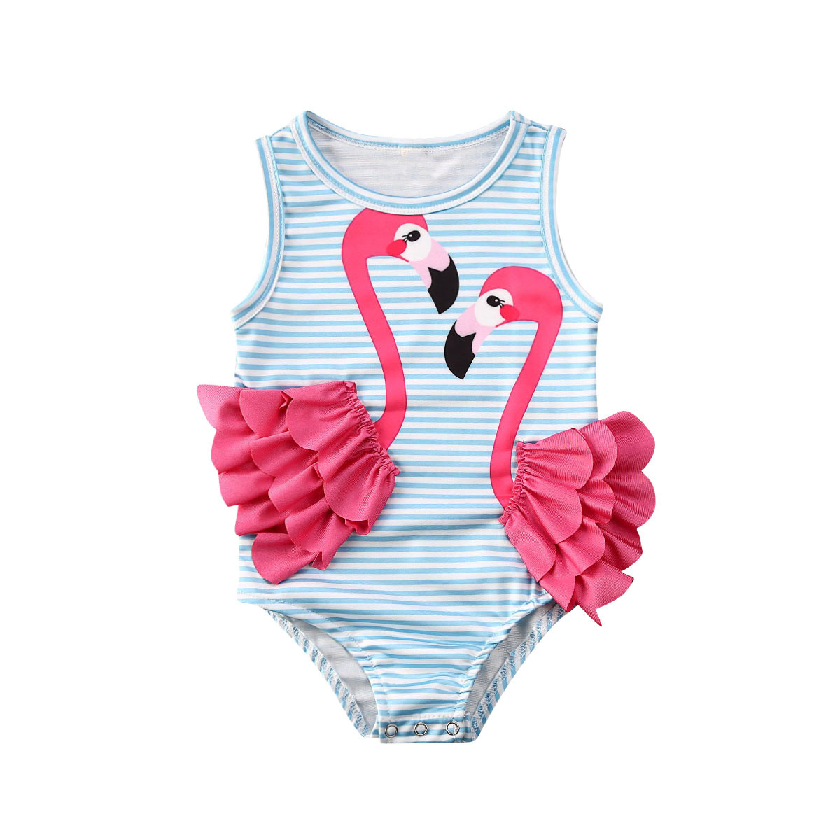 Kid Girl Children One-Piece Swimsuit Bikini Swimwear Bathing Suit Beachwear