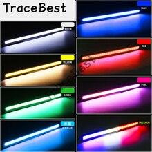 цена на 1pair(2pcs) 17cm Universal Daytime Running Light Car COB DRL LED Strip Light External Lights Auto Waterproof Car Styling Led DRL