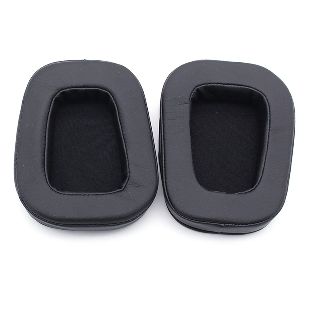 1 Pair Replacement Headphone Earpads + Headband Pad for Logitech G633 G933 Protective Ear Pads