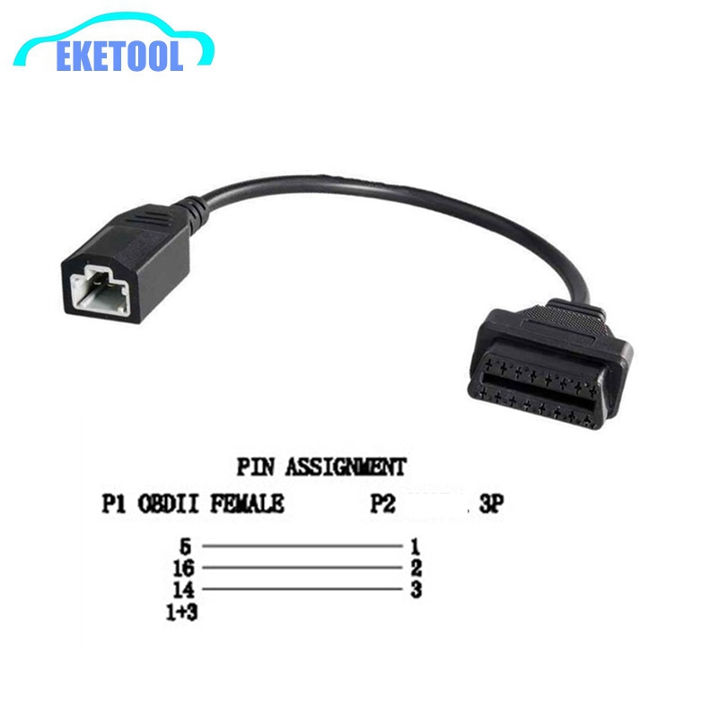 Car Diagnostic Cable Connector For Honda 3PIN To 16PIN Lead Cable OBD1 To OBD2 For Honda 3 PIN Auto Cable Free Shipping