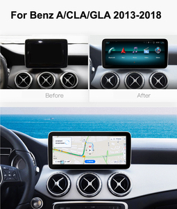 Image 2 - Android 10.0 System IPS Touch Screen Car Multimedia Player For Mercedes benz A CLA GLA W176 W117 X156 BT SWC WIFI 2+32G GPS Navi