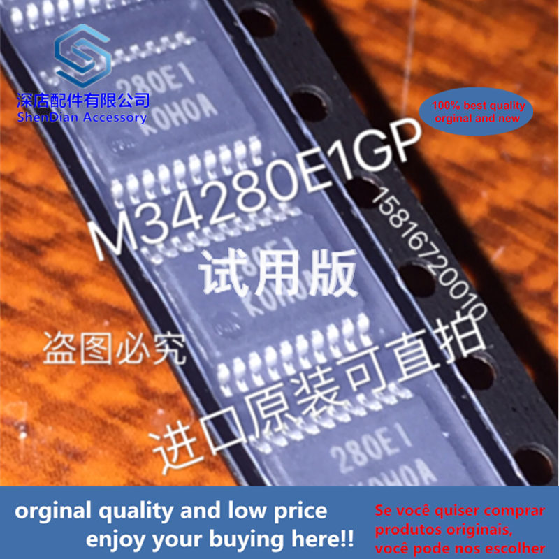 1pcs 100% Orginal And New M34280E1GP TSSOP20 TSOP20 SOP 280EI Best Qualtiy