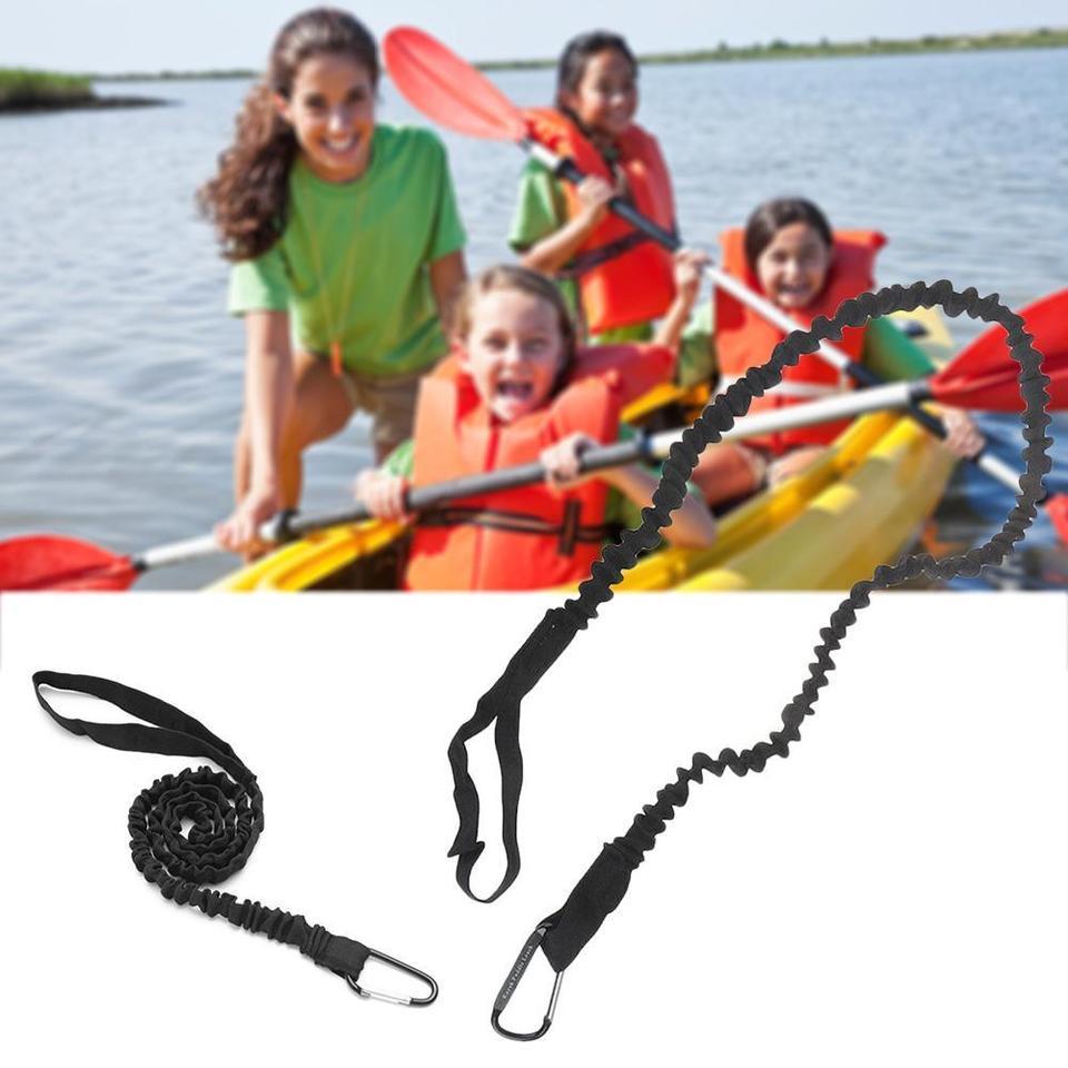 3X Elastic Kayak Canoe Paddle Leash Safety Boat Fishing Rod Pole Board Rowing