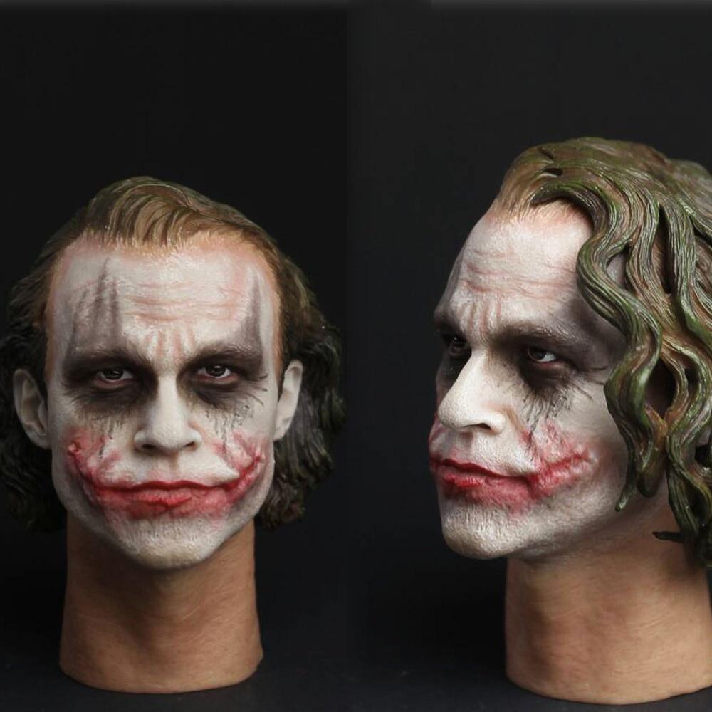 In stock CGL T-09C 1/6 Scale Batman Joker Headplay Heath Ledger Head Sculpt for fans collections