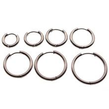 4pcs/lot 13-25 mm Stainless Steel Big Circle Women Hoop Earrings Ear Loop Smooth Ring Earring Hooks Wire Jewelry Findings
