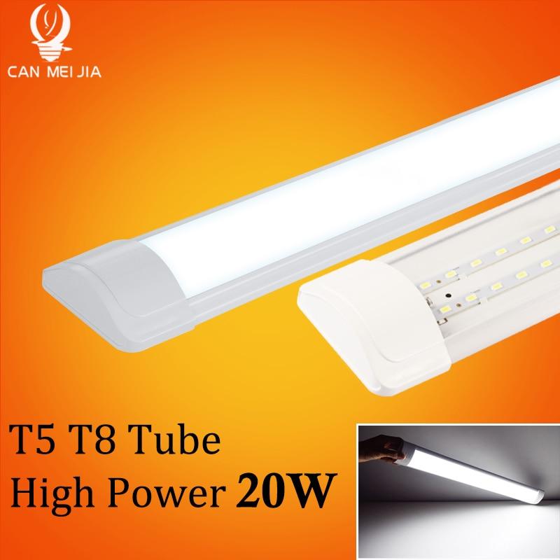 Super Bright T5 T8 Led Tube Light Lamp 220V 600mm 60cm 120cm Lampara Tube Led Bulb 2FT 4FT High Power 20W Tri Proof Home Light