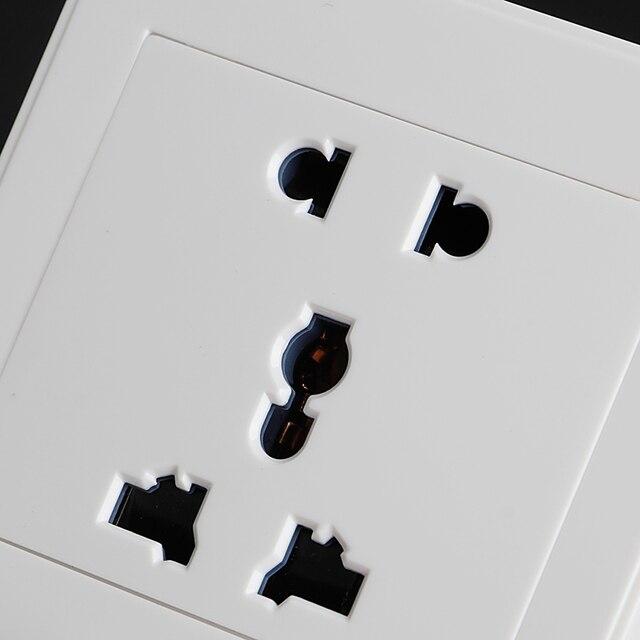 Фото белая розетка панель универсальная 5 отверстий 10a электрическая цена