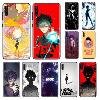 Anime Mob Psycho 100 Phone case For Samsung Galaxy A 3 5 8 9 10 20 30 40 50 70 E S Plus 2016 2017 2018 2019 black tpu funda 3D image