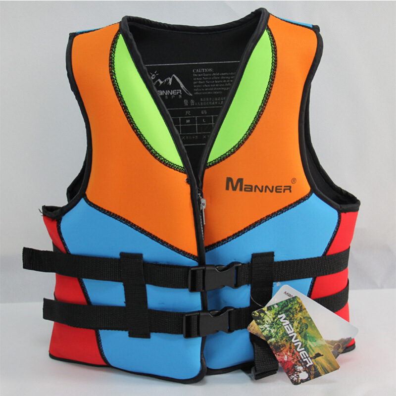 Guangzhou Manufacturers Wholesale MANNER CHILDREN'S Life Jackets Swimming Rescue Kids Large Buoyancy Profession Snorkeling Vest