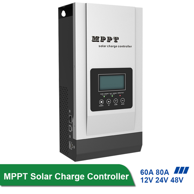 Mppt 80Aソーラーコントローラ12v 24v 48vソーラー充電レギュレータバッテリー36v設定充電器最大150VDCコントローラレギュレータ