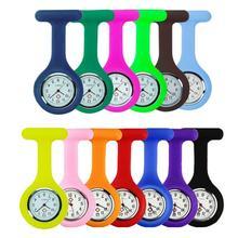 High quality medical pocket watch nurse silicone solid pin pocket watch decoration brooch quartz watch