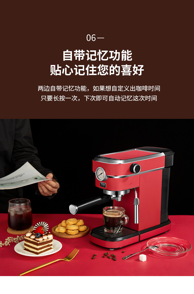 Hf0ed3d0c105b4ce6a1eb304316c6a7caT - 2020 Neue 15Bar Espresso Machine Stainless Steel Body Memory Function Home Use Fully Automatic Milk Frother Kitchen Appliances