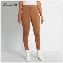 Эластичные замшевые кожаные брюки для верховой езды женщин зимние