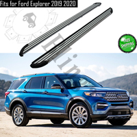 Aluminium alloy side step fits for F ord Explorer 2019 2020 running board Nerf bar pedal protector side stairs platform