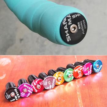 Shanmashi uchwyty MTB Grill uchwyty kierownicy rowerowej zaślepki rowery uchwyty Cap Bike Accesorios para bicicletas 9 opcjonalne kolory tanie i dobre opinie Aluminiowe ze stopu + guma 13 cm 2 2cm