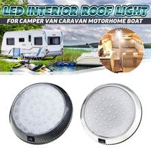 Luz LED redonda para techo de coche, luz Interior de techo, interruptor de encendido/apagado para Camper, Van, caravana, autocaravana, barco, RV, 12V, 46