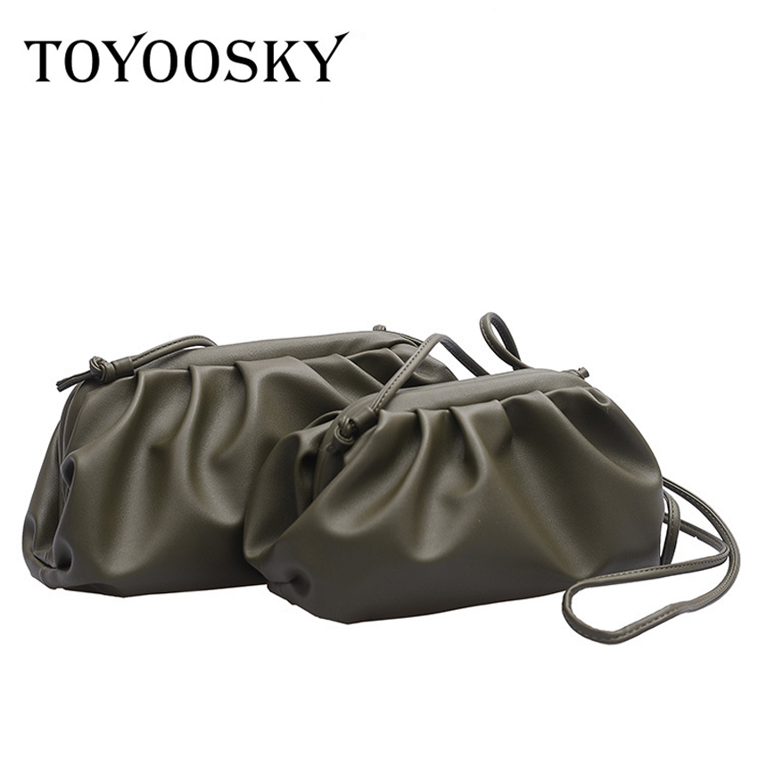 TOYOOSKY Women Simple Dumplings Messenger Bag Designer Retro 2019 New Fashion Cloud Female Crossbody Bag Tide Handbag Clutch Bag