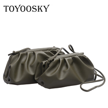 TOYOOSKY Women Simple Dumplings Messenger Bag Designer Retro 2019 New Fashion Cloud Female Crossbody Tide Handbag Clutch