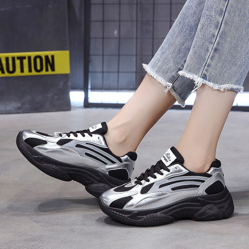 shoes Women's Shoes Casual Shoes Spring Womens Sneakers Tennis Female Platform Woman 2019 Woman's Trainers Black Fashion Thick