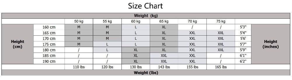 体重M-2XL