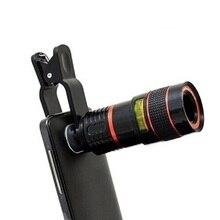 цена на 2020 New 8X 12X Universal Zoom Lens Telephoto Lens Zoom Effect High-definition Lens Long Focus Monocular Phone Telescope for Mob