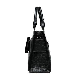 Image 3 - ブランドワニ革高級ハンドバッグの女性のデザイナーカジュアルトートファッション女性メッセンジャーショルダーバッグ嚢送料メイン