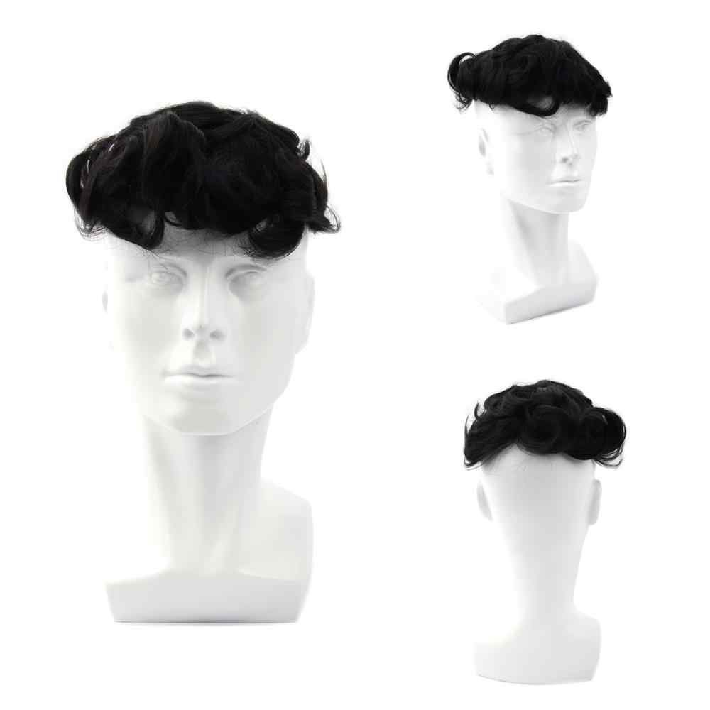 MW Toupee pelucas para hombres Sistema de cabello humano PU + Mono fino neto duradero 100% atado a mano 6 pulgadas 150% de densidad Remy peluca pelucas de pelo