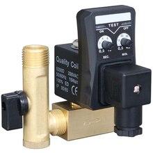 1/2 Cal Dn15 zegar elektryczny Auto zawór wody elektromagnetyczny elektroniczny zawór spustowy dla sprężarki powietrza kondensatu