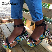 OllyMurs Big Size 35-43 Brand New Luxury Ladies Colorful Wedges Gladiator