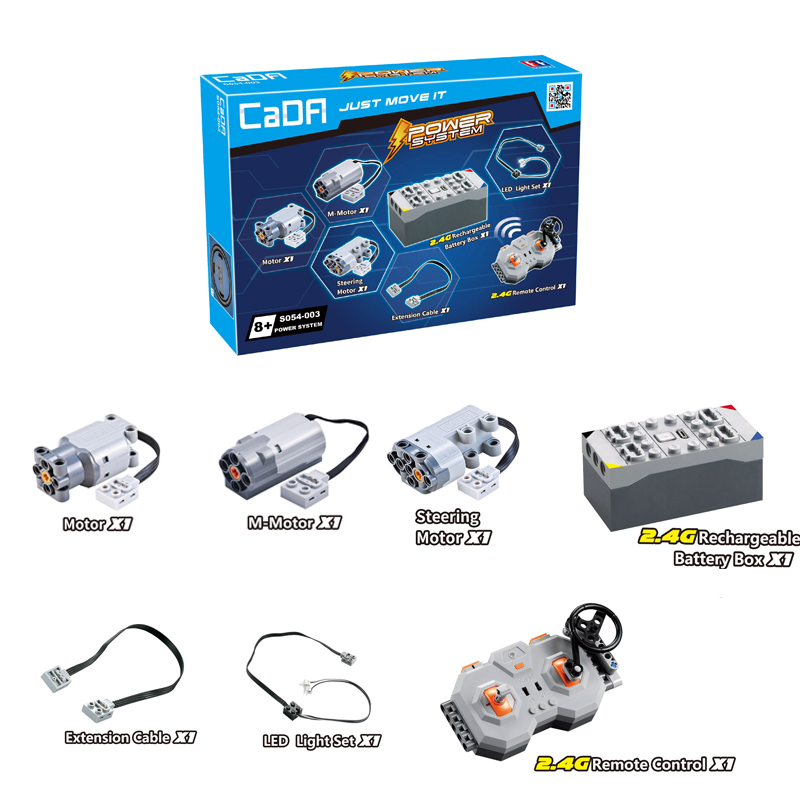 CaDA S054 Technic Super Sports Car MOC Assembling Building Blocks Bricks Power Group Module Spare Part  DIY Toys Remote Control