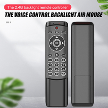 MT1 Backlit Con Quay Không Dây Bay Air Mouse 2.4G Âm Thông Minh Điều Khiển Từ Xa Cho X96 Mini H96 Max X2 Khối Lập Phương android Tivi Box VS G10