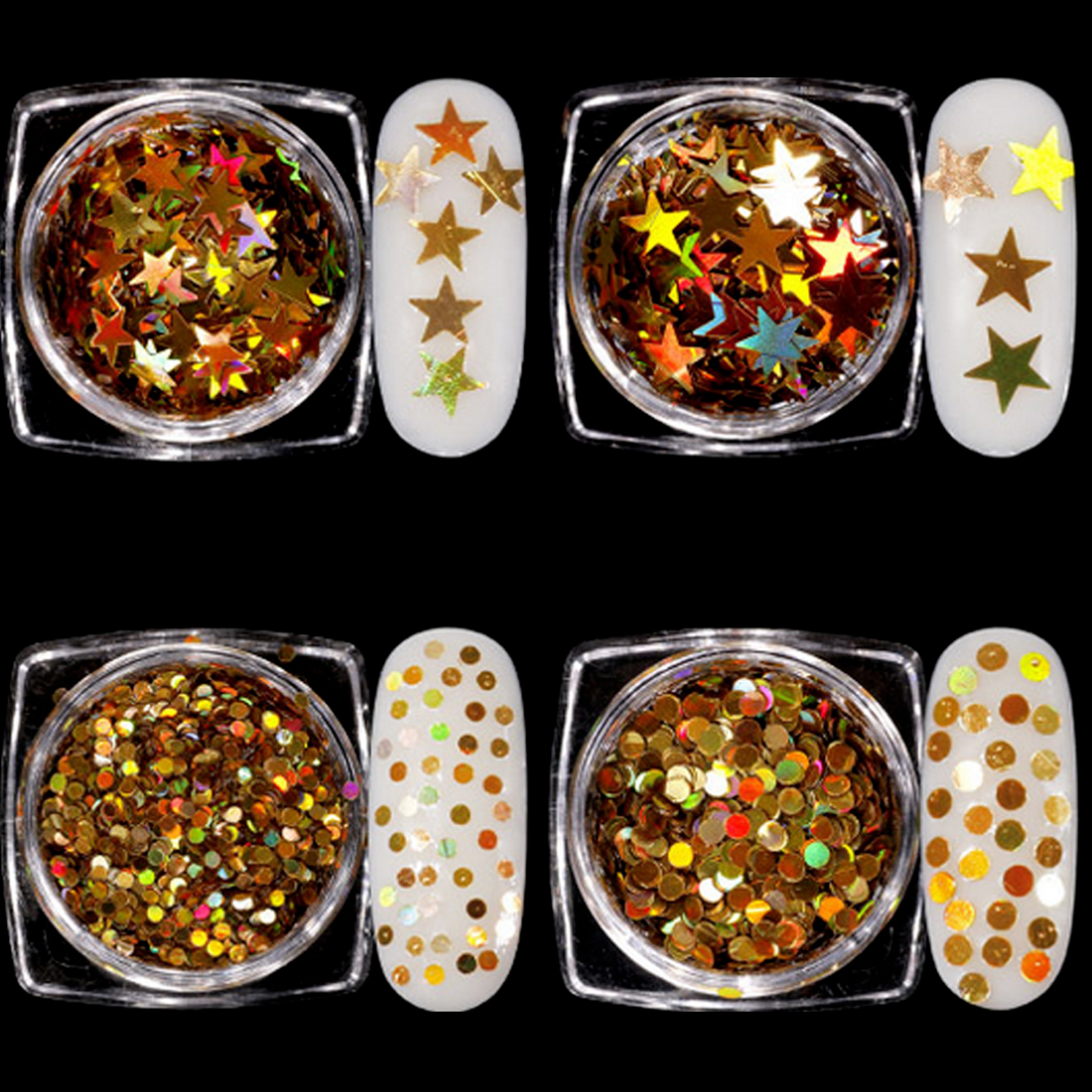 Mirror Nail Glitter Sequins Sparkly Nail Sequins Holographics Mixed Colors 3D Flakes Slices Spangle Nail Art Decorations