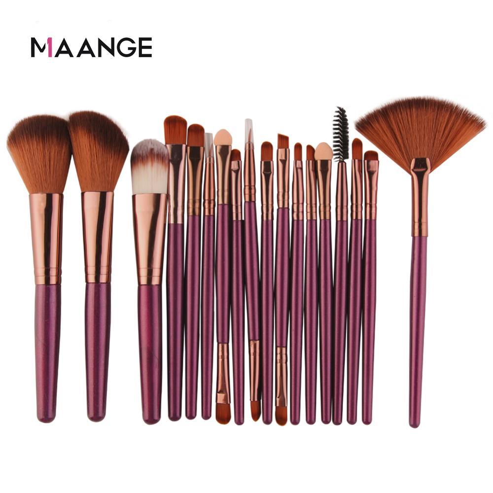 MAANGE 6/15/18Pcs Makeup Brushes Tool Set Cosmetic Powder Eye Shadow Foundation Blush Blending Beauty Make Up Brush Maquiagem