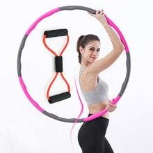 Xc lohas 8 parte esporte hoop peito expansor yoga bandas de resistência conjunto destacável ponderada instalar massagem fina cintura hoop emagrecimento