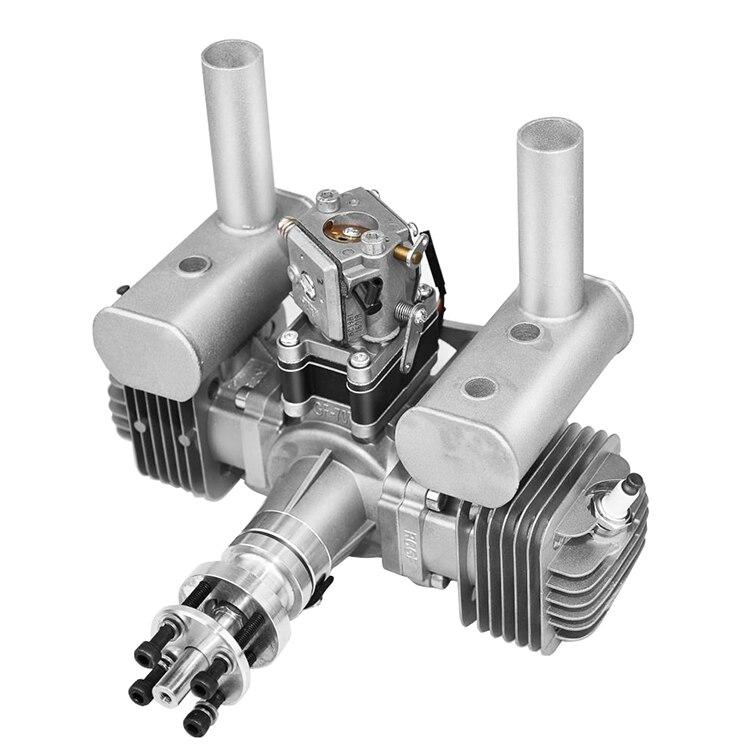 Neue RCGF 70cc Twin Zylinder Benzin/Benzin Motor Dual Zylinder mit Schalldämpfer/Igniton/Zündkerze für RC modell Flugzeug