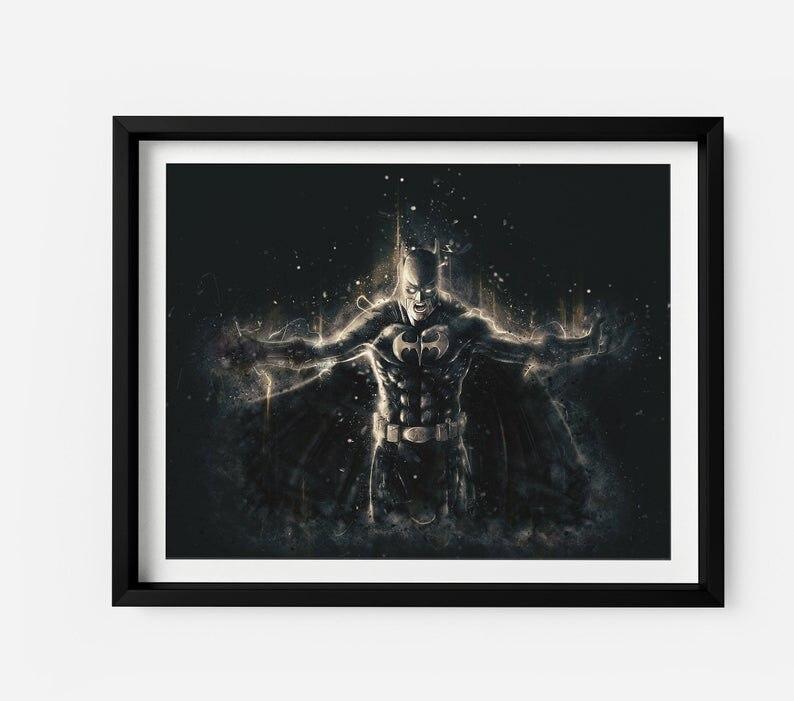 Современная Настенная живопись Мстители персонаж эндшпиль Железный человек Тор Капитан Америка постеры картина холст домашний декор - Цвет: Лиловый